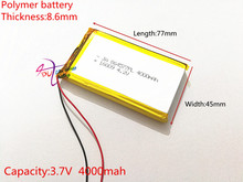 Free shipping 3.7 v lithium polymer battery 4000 mah 864577 mobile power supply tablet 7 'tablet