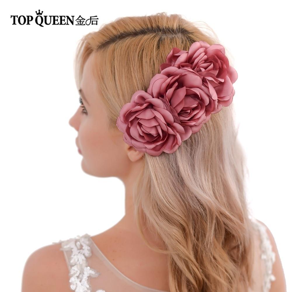 TOPQUEEN HP51 Wedding Headpiece DIY Headdress Wedding Hair Accessories Wedding Multi Color Flowers Bridal Hair Comb Hair Clip