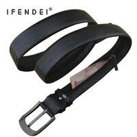 IFENDEI New Fashion Designers Belt Men Luxury Leather Belts Buckle Zipper Money Belt Strap Multi Functional