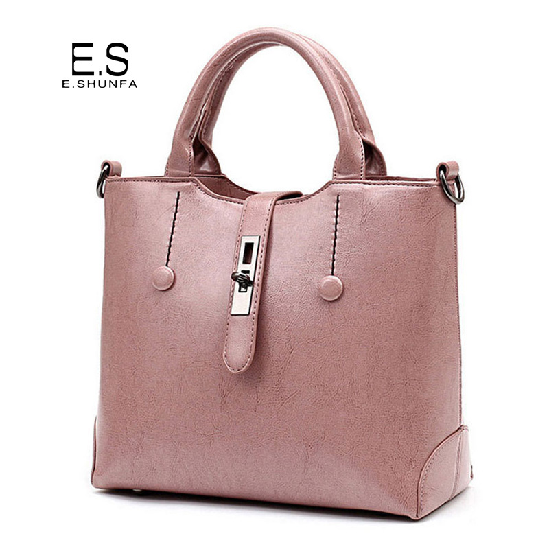 PU Leather Handbags Women Bags 2018 Elegant Fashion Tote Bag Handbag Woman High Quality Zipper Hasp Hand Bag Bolsa Feminina metallic hasp pu leather tote bag