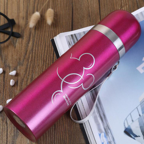 500ml Stainless Steel Water Bottle for Children, Thermal Flask Double Wall Insulated Thermal Water Bottle for Kids Outdoor Multan