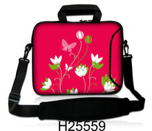 "Netbook Portable Carring Cover Kits 10""13""14""15""17"" Shining Red Picture Laptop Shoulder Messenger Sling Pouch Case For Apple"