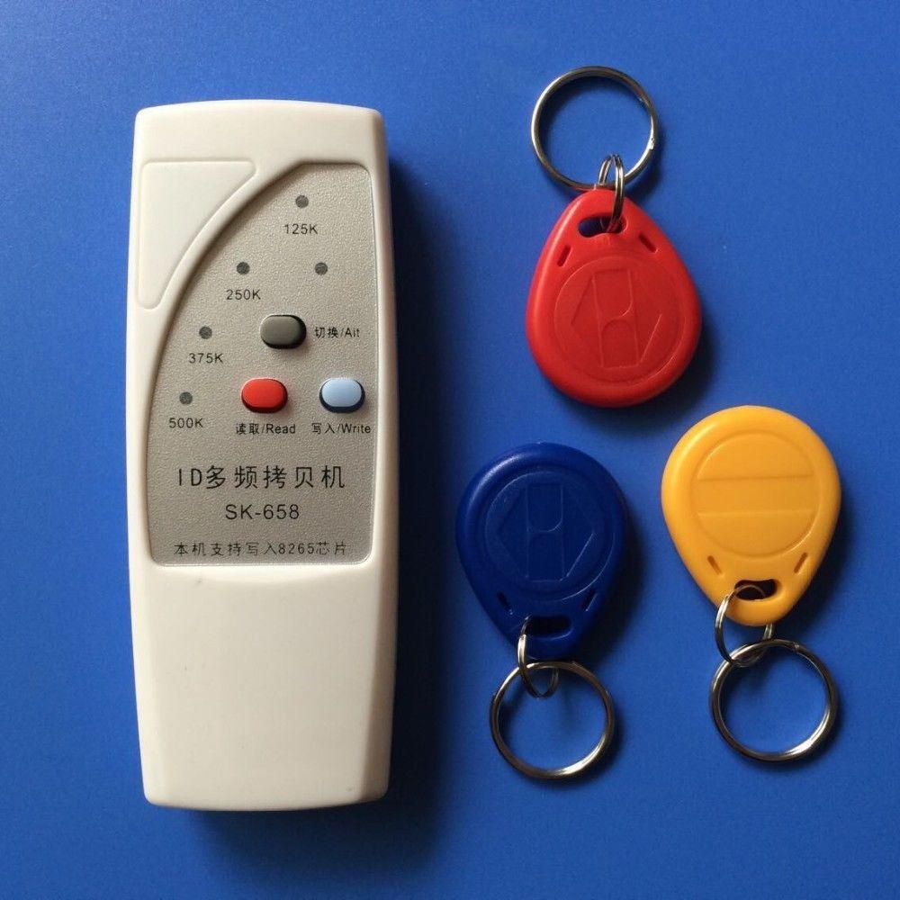 125khz id card access control door RFID Copier Duplicator Cloner EM reader writer 3x EM4305 t5577