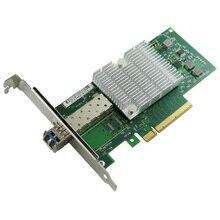 PCIe X8 10-Gigabit Fiber Ethernet Card Single Mode 1310nm 10km LC Optical Module