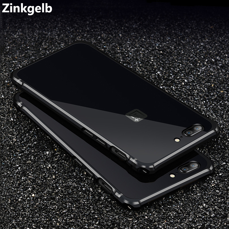 For OnePlus 5 Case Cover Luxury Hard Metal Aluminum Frame Plastic Back Cover Armor Protective Phone Case for One Plus 5 Hoesje