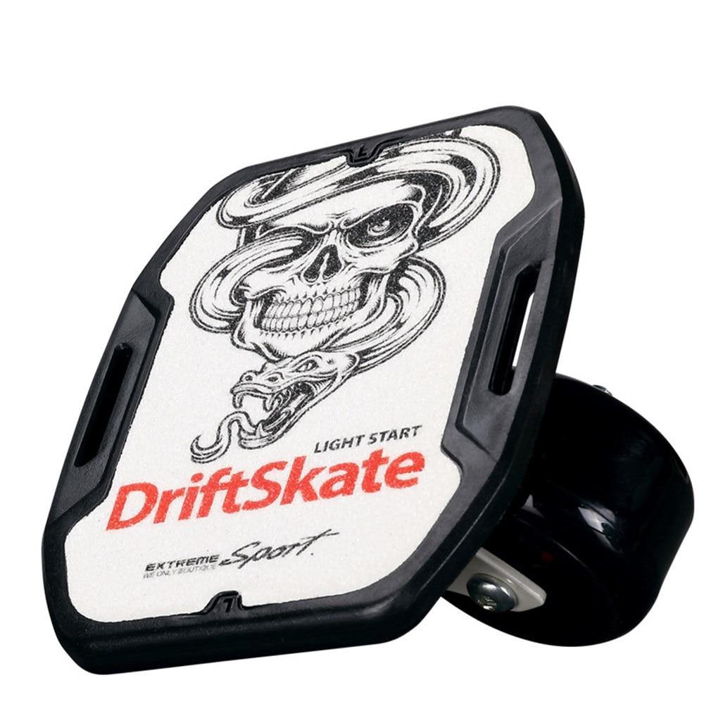 SPORTSHUB 1 paire planche à roulettes dérive planche pour rouleau route dérive plaque antidérapant Skateboard sport ABS pédale roues en polyuréthane CS0016 - 3
