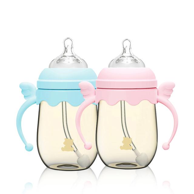 Baby Bottle Food Lanches Círculo Alça Mamilo Alimentador Nibbler 160 ml PPSU BPA Livre Recém-nascidos Equipamentos Botellas Flesjes 60F005