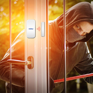 Image 2 - Original KERUI D025 433MHz Drahtlose Fenster Tür Magnet Sensor Detektor Für Home Drahtlose Alarm System
