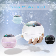 ASKMEER Led Rotating Night Light Projector Novelty Luminous Toys Baby Sleep Romantic Starry Sky USB Lamp