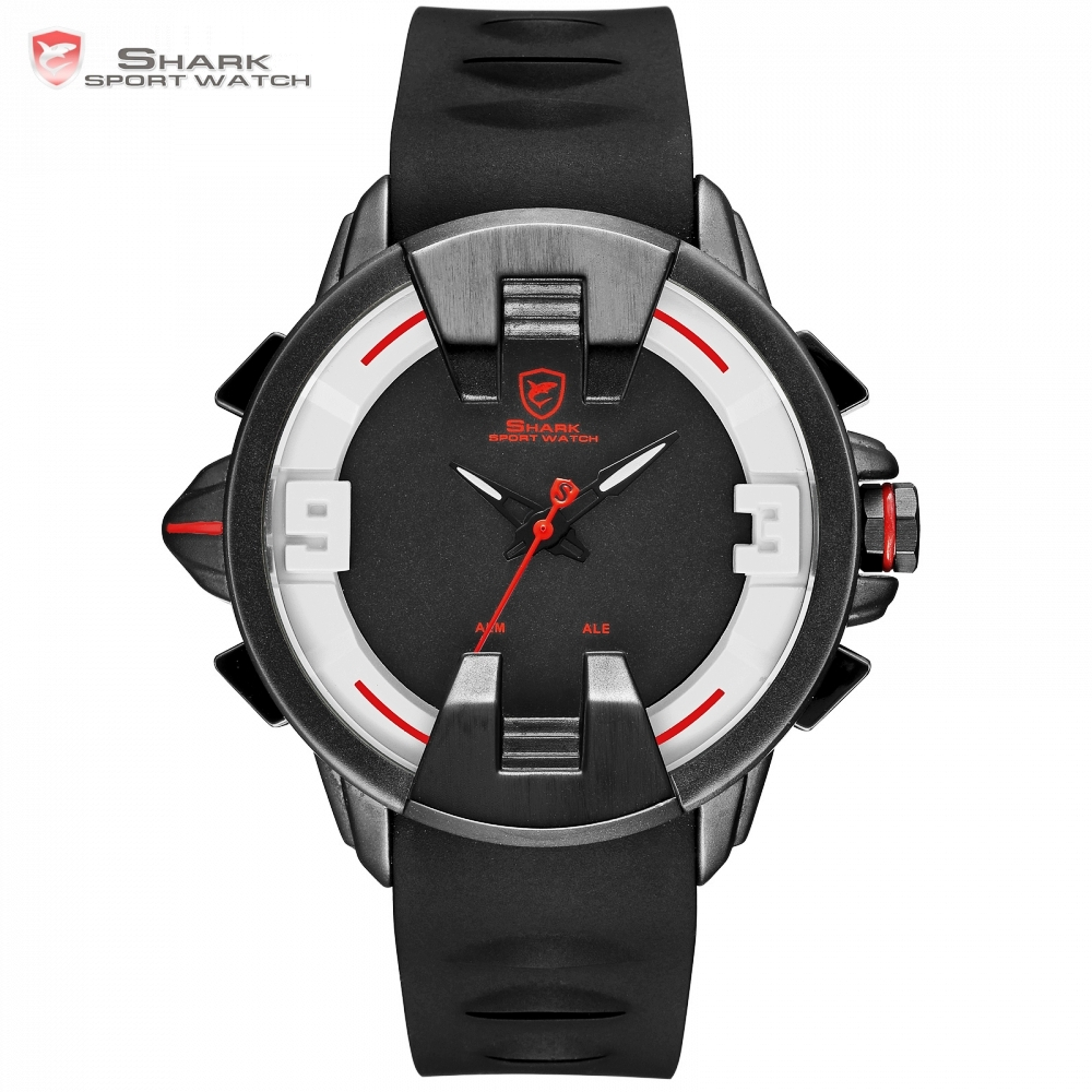 New Wobbegong SHARK Brand Casual Watch Men Alarm Digital Analog Display Men's Quartz Outdoor Sport Watch Tag Relogio Clock/SH559 цена и фото