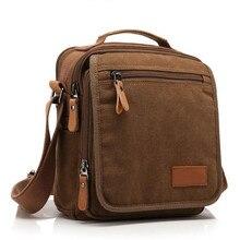 Men's Crossbody Bag messenger bag Men's leisure shoulder bag canvas fashion Ipad bags