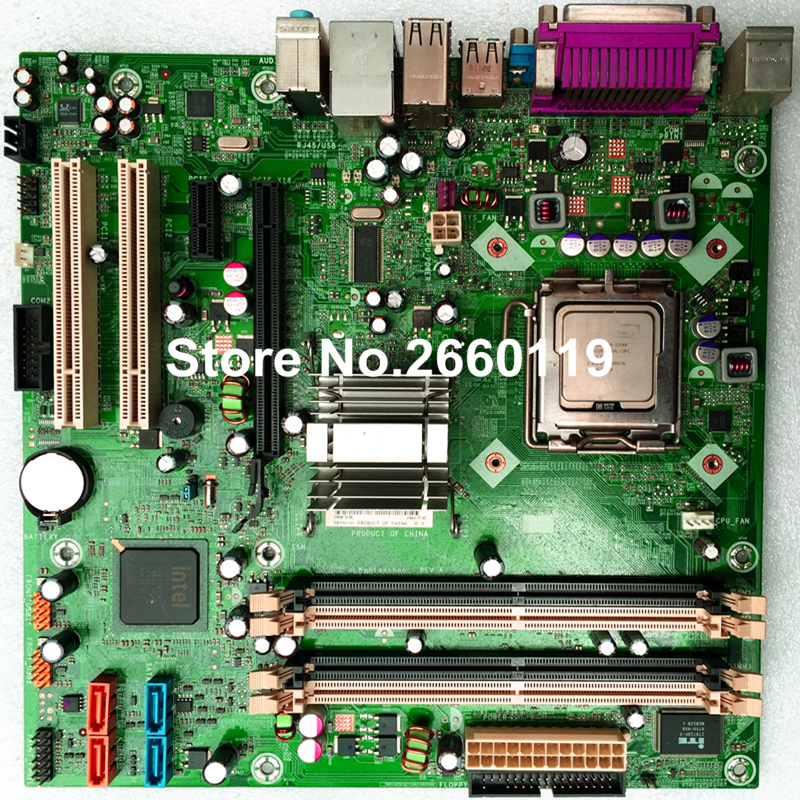 Desktop motherboard for HP DX2710 2718 480734-001 468195-001 system mainboard fully tested and perfect quality WITHOUT CPU 865 motherboard disassemble 775 needle motherboard ddr1 fully integrated cpu small second hand 100% tested perfect quality