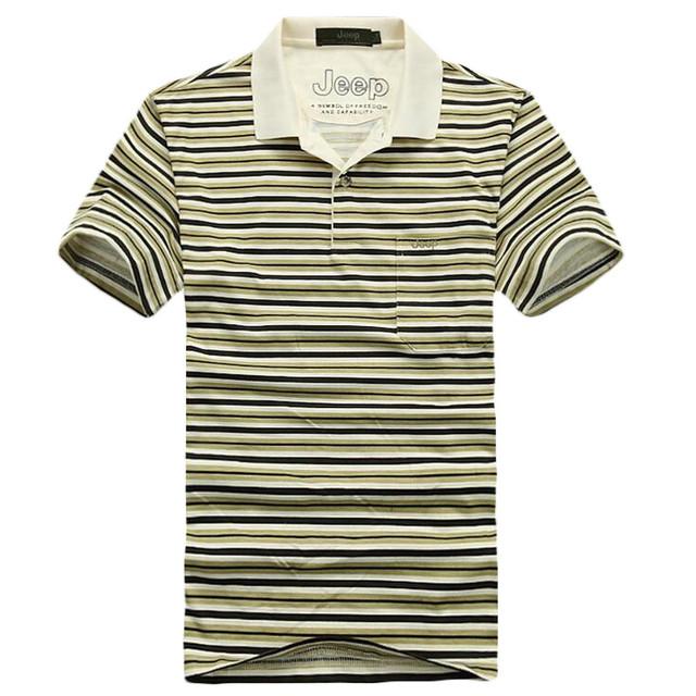 2017 Nueva Marca de Negocios Polo Camisas de Los Hombres de Algodón Delgado Cómodo Rayado Ocasional Camisa de Polo Camisas de Polo Clásico Tamaño M-3XL