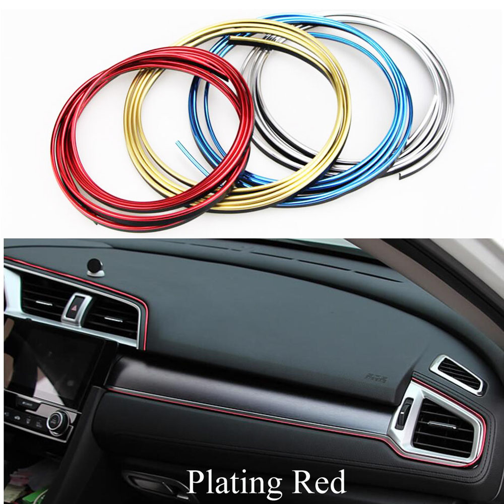5m <font><b>Car</b></font> Interior Mouldings Trim Decorative Strip Line For Ford Focus 2 3 Mondeo for <font><b>BMW</b></font> E46 <font><b>E90</b></font> E60 E65 for Skoda Octavia 2 3 A4 image