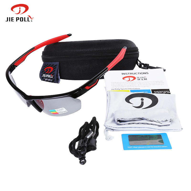 2019 Jiepolly Sport Photochromic Cycling Glasses Sunglasses For Bike Bicycle Fishing Sun Glasses Sunglasses Sports in Cycling Eyewear from Sports Entertainment