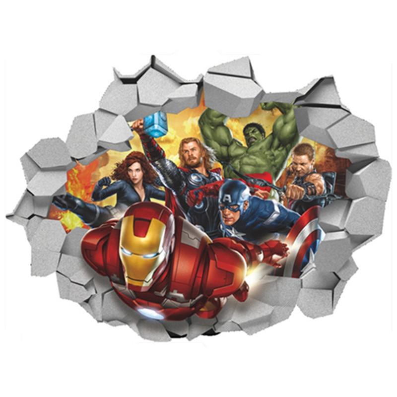 The Avengers Super Heroes Iron Man Hulk Thor Anime 3d