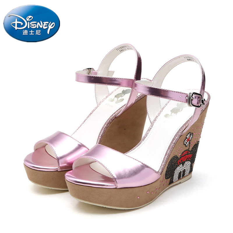 Disney Sandals Wedge High-Heel Girls Cartoon Minnie