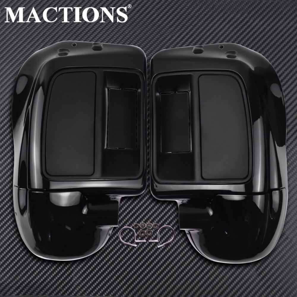 Black Lower Vented Leg Fairing Glove Box For Harley Touring Road King Street Electra Glide Ultra
