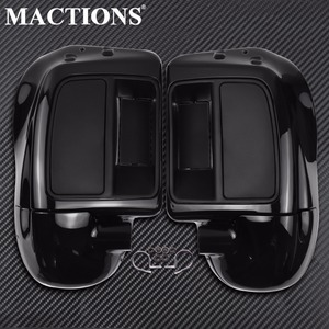 Vivid Black Lower Leg Warmer Vented Fairing Glove Box For Harley Touring Road King Street Electra Glide Ultra FLTR FLTRX 14-2018(China)