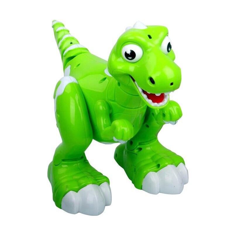 Детский обучающий Радиоуправляемый игрушечный звуковой светильник с дистанционным управлением, Электрический ходячий динозавр, игрушка с... - 6