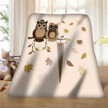 Custom Cartoon Owl (1)@1 Blanket Soft Fleece DIY Your Picture Decoration Bedroom Sofa Multi Size#929-02-002-21
