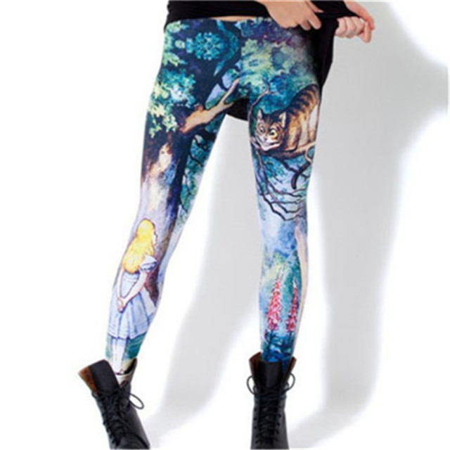 Fashion Sexy Hot Sale New Novelty 3D Printed Fashion Women Leggings Space Galaxy Leggins Tie Dye Fitness Black Milk Pant 2018
