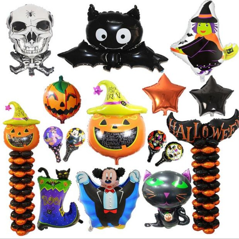 Hot new Halloween ballons 1pc pumpkin bat shape aluminum foil balloons decoration Easter balloon holiday inflatable toy baloon