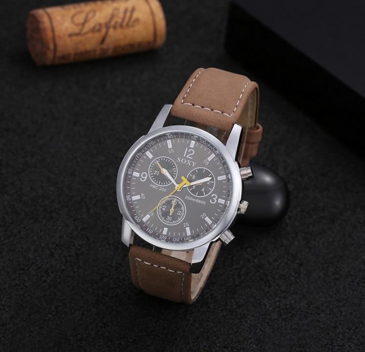 mænds forretningsklokke mænds armbåndsur mand kvarts ur sport - Mænds ure - Foto 5