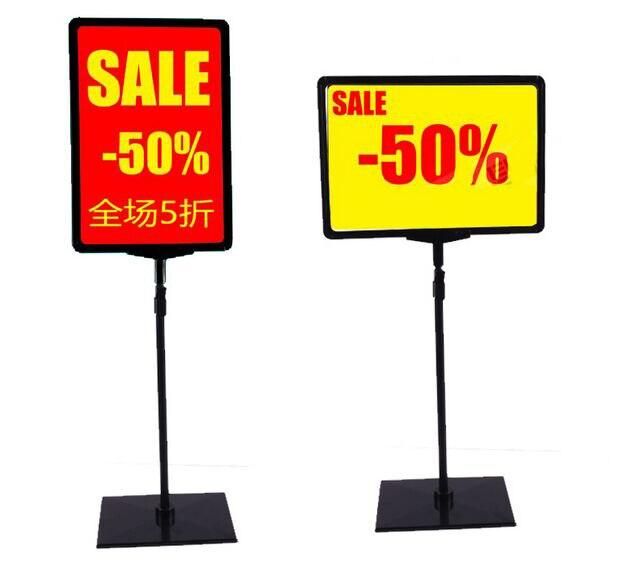 Supermercado pop publicidade poster display stand rack A3/A4/A5 Photo frame etiqueta de preço sinal Billboard Rack de Promoções
