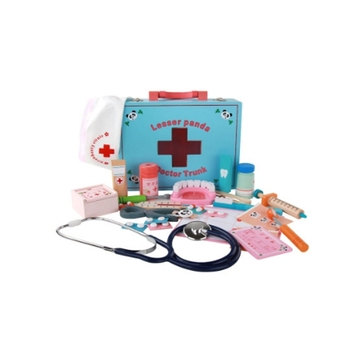 Wooden Pretend Play Doctor Toy Boys Girl Nurse simulation medicine toolbox wooden bottle injection Children toys free shipping free shipping magnetic simulation fruit well send to receive bag house wooden toys