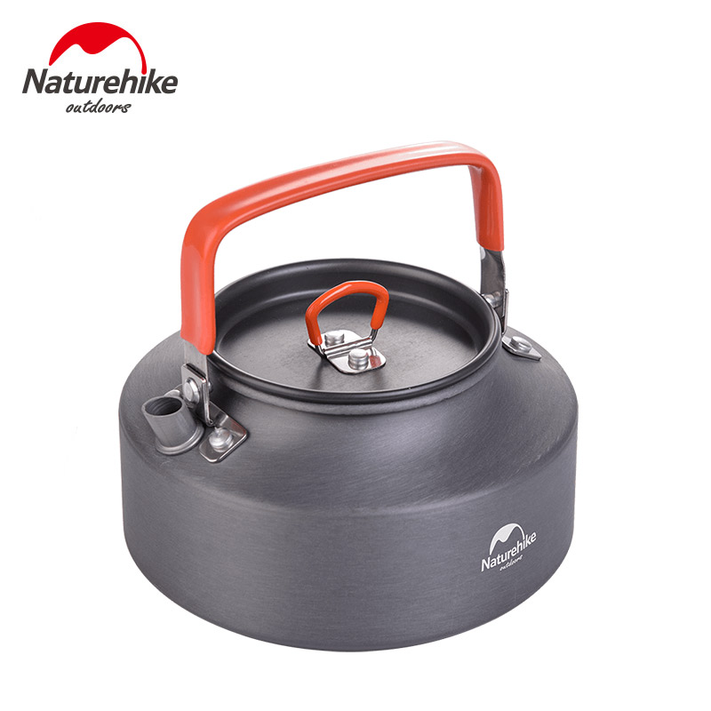 Naturehike 1.1L Кемпинг тепло Кофе Чайник Открытый Сверхлегкий Пикник чайник водонагреватель алюминиевый сплав чайник с фильтром