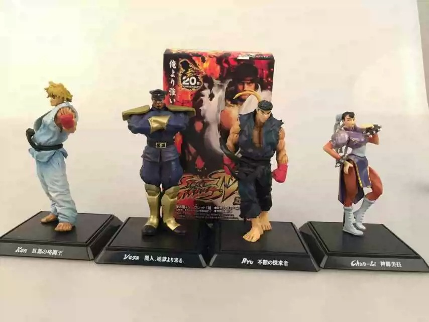 Street Fighter SF  PVC Cartoon Figure Ryu Ken Chun Li Vega 4 Game Characters Collectible Decoratio Toy 6pcs set street fighter 4 ryu ken sagat guile el fuerte seth pvc action figures collectible model toys 4 10cm