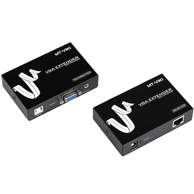 50m VGA Video Audio Extender Repeater over UTP Single RJ45 CAT 5e / 6 LAN Cable