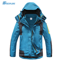 Dropshipping New Windstopper Waterproof Warm Windbreaker 3 In 1 Jacket Double Layer Winter Ski Outdoor Hiking