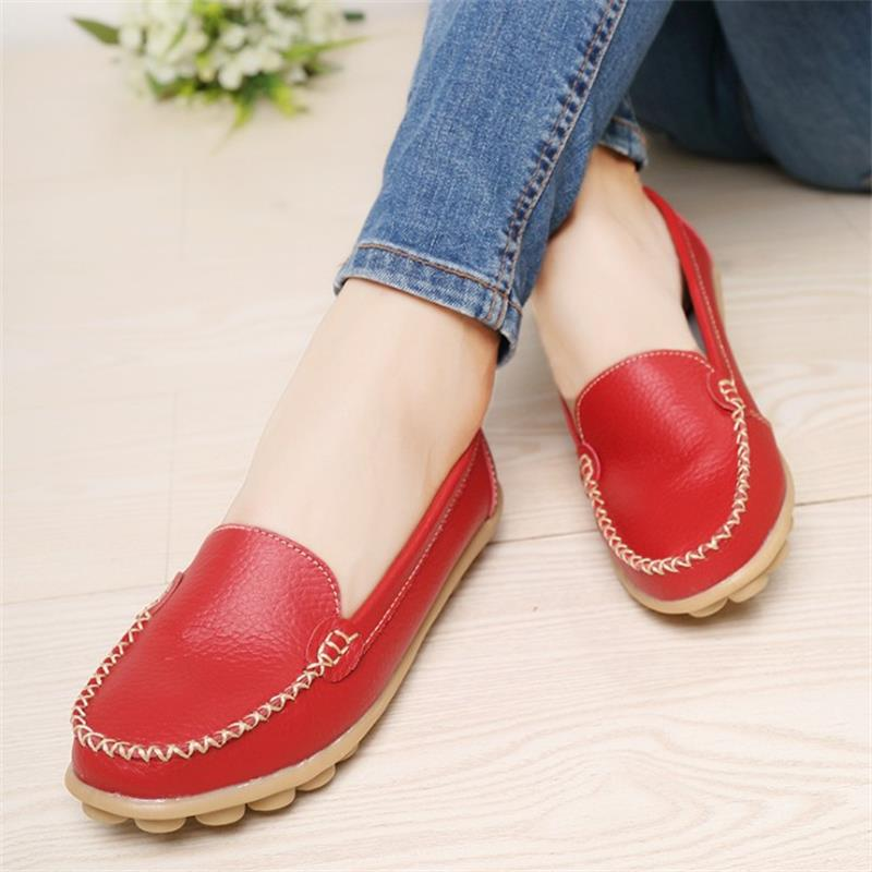 Women's shoes PU Leather Flats shoes Casual Cut-Outs loafers Shoes 2017 New Fashion Summer Moccasins Mother's shoes DT204 2017 autumn fashion real leather women flats moccasins comfortable summer ladies shoes cut outs loafers woman casual shoes st181
