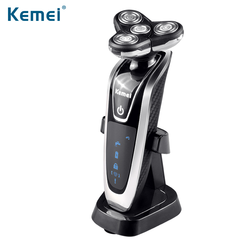 Kemei8871 Washable Rechargeable Electric Shaver Triple Blade Electric Shaving Razors Men Face Care 3D Floating Free Shipping kemei7000 3 in1 washable rechargeable electric shaver triple blade electric shaving razors men face care 3d floating km 7000
