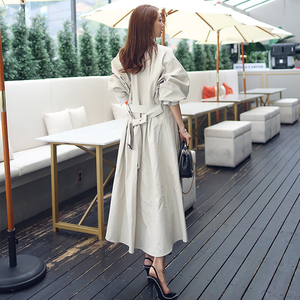 Image 4 - new arrival high quality women fashion comfortable loose a line trench coat  professional temperament outdoor warm long trench