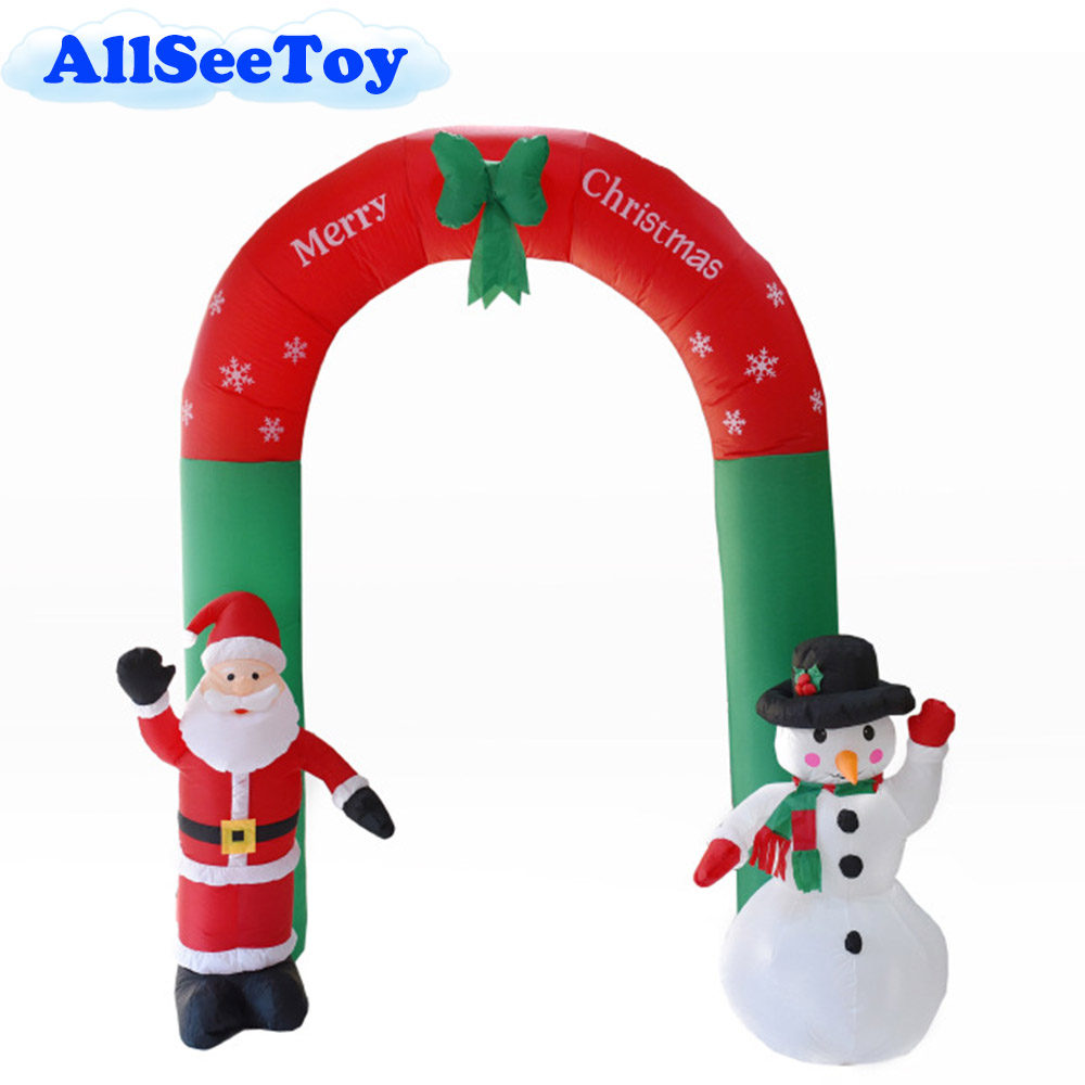 Inflatable Santa Claus Snowman 2.4m High Inflatable Archway for Christmas christmas santa claus high low plus size t shirt