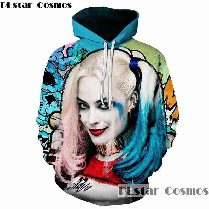 PLstar Cosmos Hip Hop Joker Quinn Hoodies Men Women 3D Printed Quinn Joker Hoodie Sweatshirt Autumn Hoody Tracksuit Pullovers