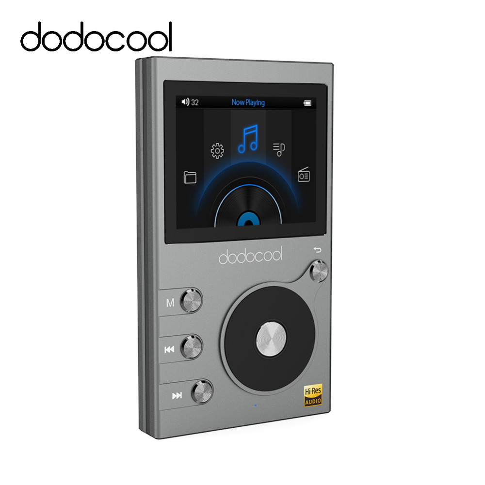 Dodocool 8GB Lossless HIFI Music Player MP3 Player Support DSD 64 128 256 WMA Audio Player Recorder FM Radio Expandable 256GB TF(China)