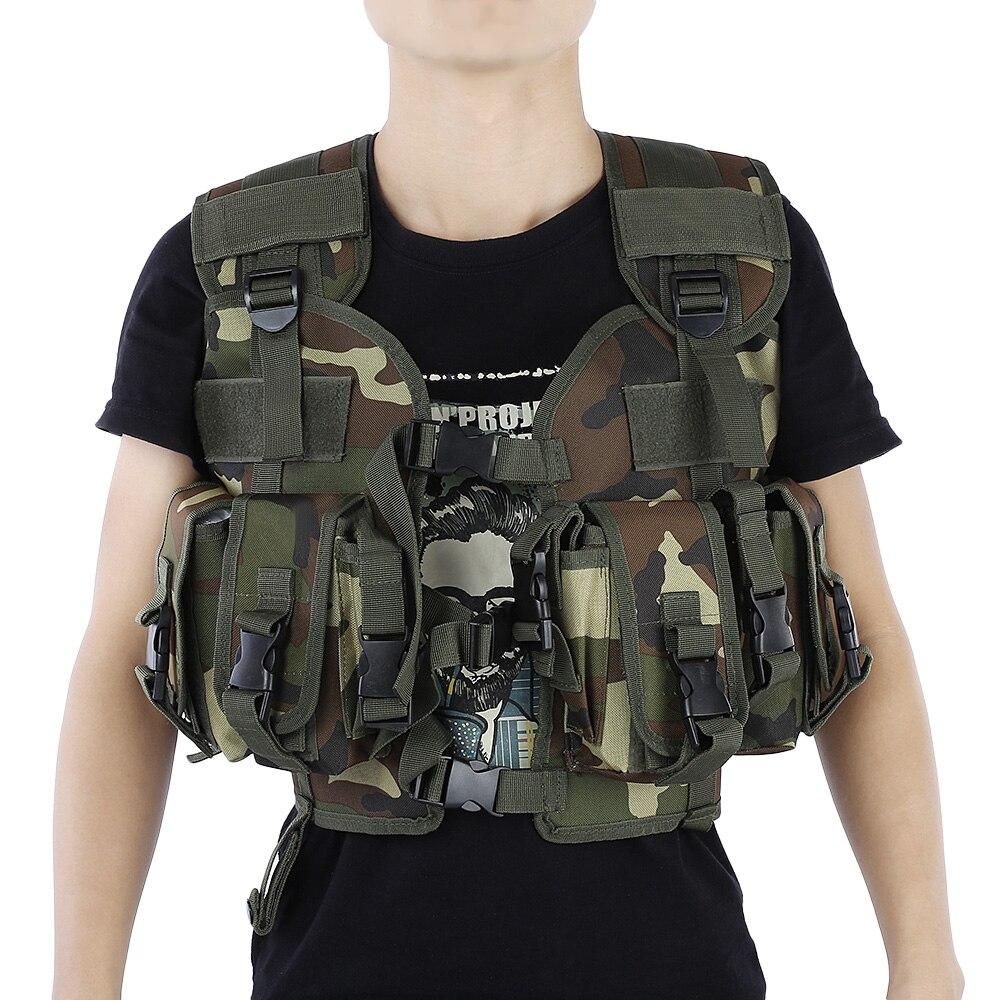 Цена за Тактический Камуфляж Охота Жилет Открытый Охота Одежда Армия Армия Swat Жилет Обучение Защитное Оборудование 6 Цвета