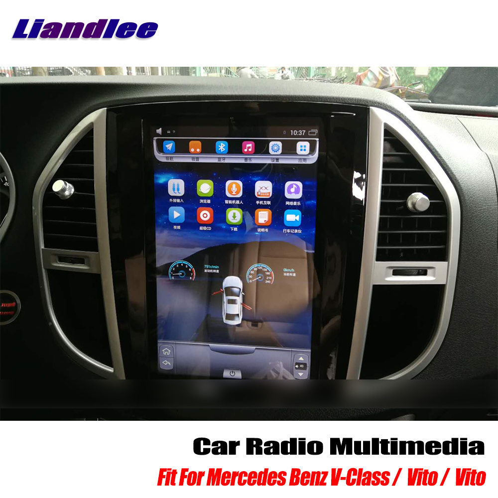 Liandlee 12 1 Inch Style Android Car Radio Player For Mercedes Benz V-Class  / Vito / Metris 2014~2017 GPS Navi Maps no DVD