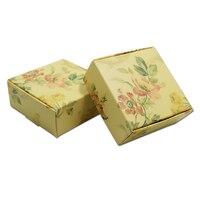 Papier pakowy Handmade Bransoletka Butik Party Prezenty Opakowanie Pudełko Na Biżuterię Wedding Favor Mały Craft Tektura Opakowania Pole Pakowania