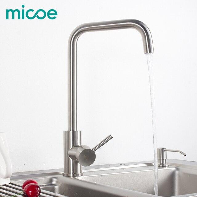 Micoe küchenarmatur edelstahl 360 swivel einzigen handgriff ...