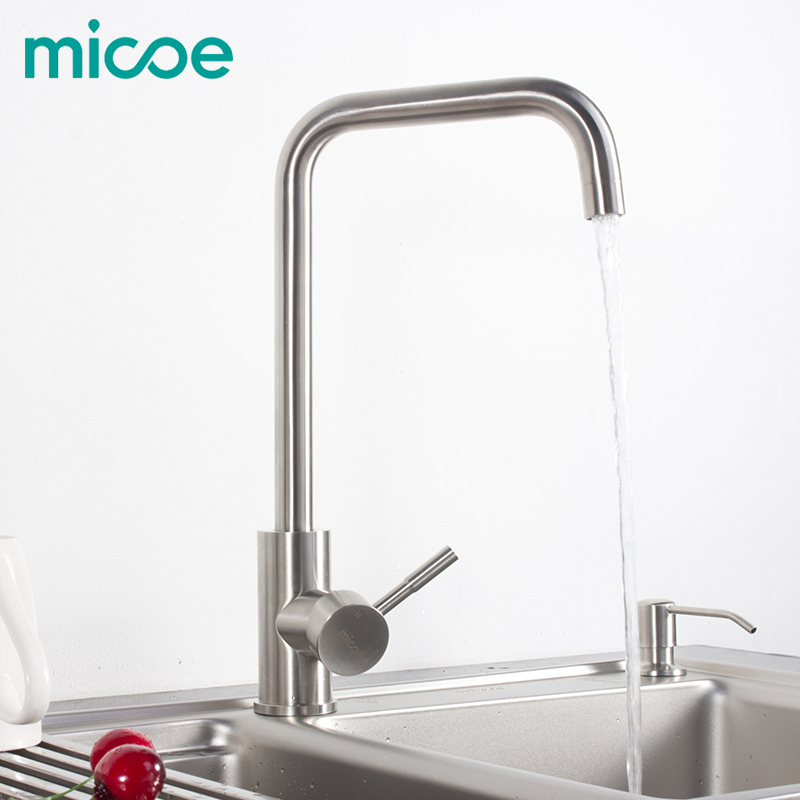 Micoe kitchen faucet stainless 360 swivel single handle kitchen taps cold and hot 2-Function Water Outlet sink mixer tap M-C100I sognare kitchen faucet wall mount single handle 360 rotation swivel hot cold water mixer tap for kitchen sink torneira cozinha