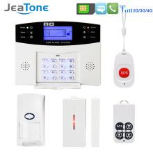 Wireless GSM Home Security Burglar Alarm DIY Kits LCD Display SIM SMS Alarm System APP Control Android IOS PIR Sensor Pet Immune yobang security wireless home security wifi rfid sim gsm alarm system ios android app control video ip camera smoke fire sensor