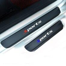 4 шт. двери Наклейки углерода Волокно автомобилей накладка Стикеры виниловая наклейка Стикеры гонки для всех автомобилей