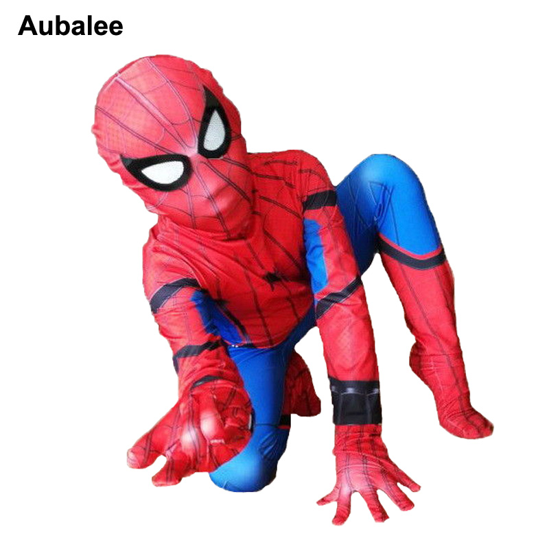 Spider-man Homecoming Suit Kids Boys Adult Spandex Zentai Costume Civil War Spiderman Cosplay Costumes Halloween Party Outfit
