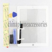 Nueva garantía de Calidad Original Blanco de Repuesto + Kit De Reparación Profesional (7 DOLLAR) Pantalla táctil de cristal frontal Digitalizador Para Apple iPad 3 iPad 4