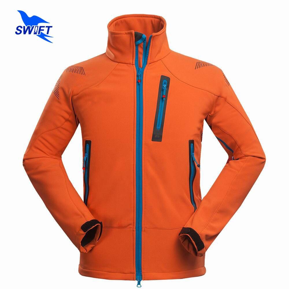 Waterproof Windproof Thermal Tech Fleece Hiking Jackets Men 2019 Outdoor Softshell Jacket Outdoor Climbing Fishing Ski